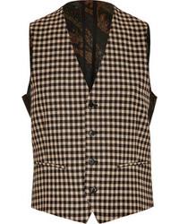 Etro Check Print Wool Vest