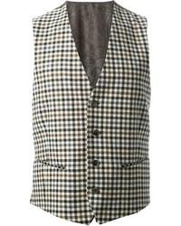 Checked waistcoat medium 99198