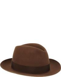 387ce513a2476 ... Borsalino Beaver Fur Felt Fedora Brown