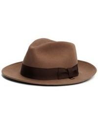 1b5cd28a129f Brixton Messer Fedora Hat  103 Free US Shipping! Brooks Brothers Wool  Crushable Unlined Fedora