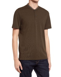 BOSS Pratt Short Sleeve Cotton Henley
