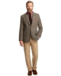 Brooks Brothers Madison Fit Harris Tweed Herringbone Sport Coat ...