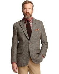 Brooks Brothers Madison Fit Harris Tweed Herringbone Sport Coat
