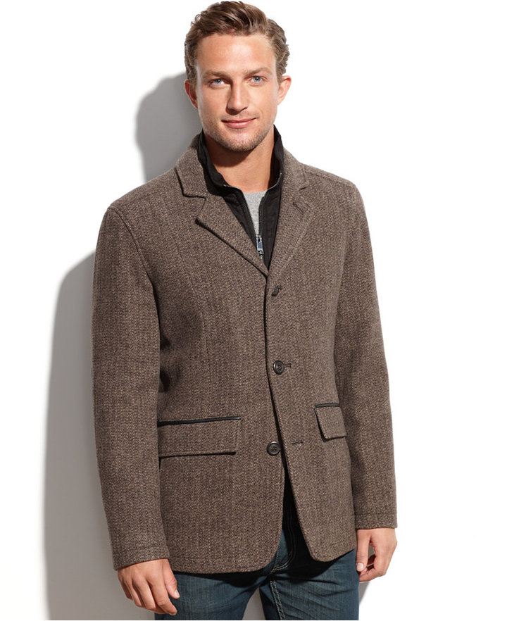 Andrew Marc Marc New York Harrison Wool Blend Detachable Bib ...