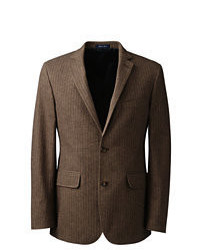Lands' End Tailored Fit Brushed Cotton Sportcoat Coral Peach Sparkle
