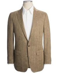 Lands' End Tailored Pattern Sport Coat Trim Fit Linen