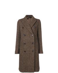 Brown Herringbone Coat