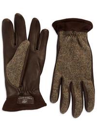 UGG Australia Herringbone Leather Gloves