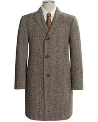 Brown Herringbone Overcoat