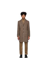 BOSS Brown Herringbone Nye Coat