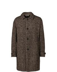 Aspesi Herringbone Mlange Wool Blend Coat