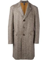 Jacob Cohen Herringbone Pattern Mid Coat
