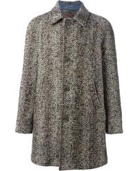 Jacob Cohen Herringbone Single Breasted Coat