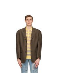 Andersson Bell Brown Wool Herringbone Totem Blazer