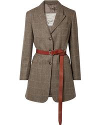 Giuliva Heritage Collection Karen Belted Herringbone Merino Wool Blazer