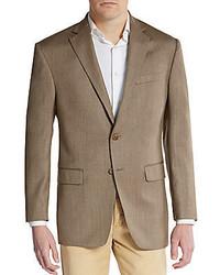 Regular fit herringbone silk wool sportcoat medium 305914