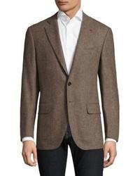 Isaia Regular Fit Herringbone Wool Sportcoat