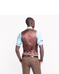 Ludlow Suit Vest In English Tweed