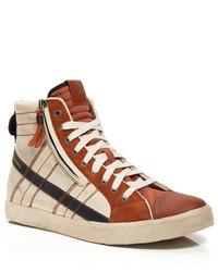 Diesel D Velows D String High Top Sneakers