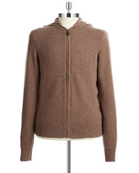 Black Brown 1826 Hooded Cashmere Sweater