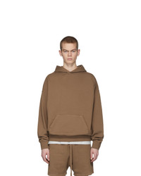 Essentials Tan Fleece Hoodie