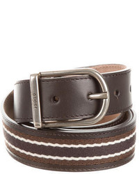 Gucci Striped Leather Belt W Tags