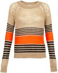 Addition nutmeg striped linen jumper medium 77652