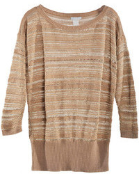 Chicnova brown stripes loose pullover medium 77651