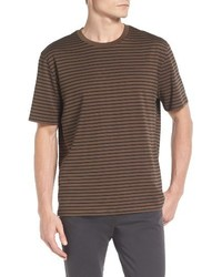 Vince Narrow Stripe Pima Cotton T Shirt