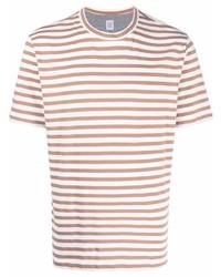Eleventy Striped Crewneck T Shirt