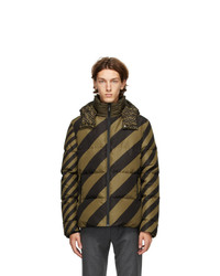 Fendi Tan And Black Down Forever Puffer Jacket