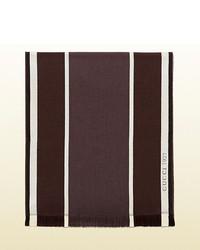 Gucci striped wool silk scarf medium 230488