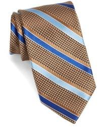 John W Nordstrom Draper Stripe Woven Silk Tie