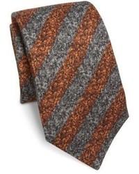 Isaia Striped Silk Wool Tie