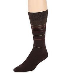 Dockers Fashion Stripe Crew Socks