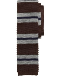 Brown Horizontal Striped Tie