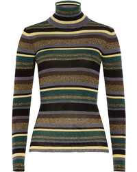 Emilio Pucci Striped Wool Turtleneck Pullover