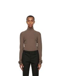 Rochas Homme Brown Wool Sweater