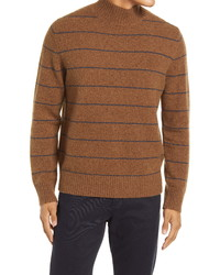 Vince Stripe Mock Neck Wool Blend Sweater