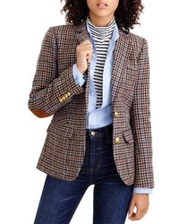 Brown Houndstooth Blazer