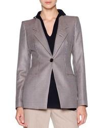 Giorgio Armani Mini Houndstooth One Button Jacket Multi Check