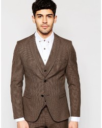 Homme skinny houndstooth suit jacket with stretch medium 593935