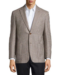 Houndstooth sport coat tan regular length medium 244181
