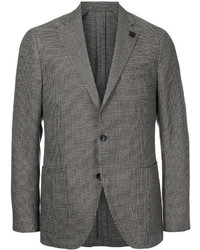 Lardini Houndstooth Two Button Blazer
