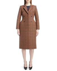 Balenciaga Houndstooth 3d Double Breasted Coat
