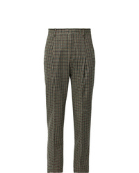 Acne Studios Brown Boston Checked Wool Blend Suit Trousers
