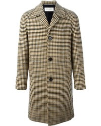 Brown Houndstooth Overcoat