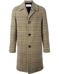 Brown Houndstooth Overcoat