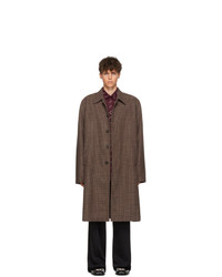 Balenciaga Brown Wool Square Shoulder Coat