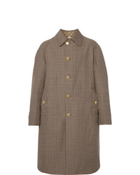Gucci Reversible Logo Jacquard Cotton Blend Canvas And Houndstooth Wool Coat